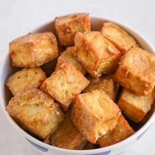 Crispy Oven Baked Tofu (Oil-Free)