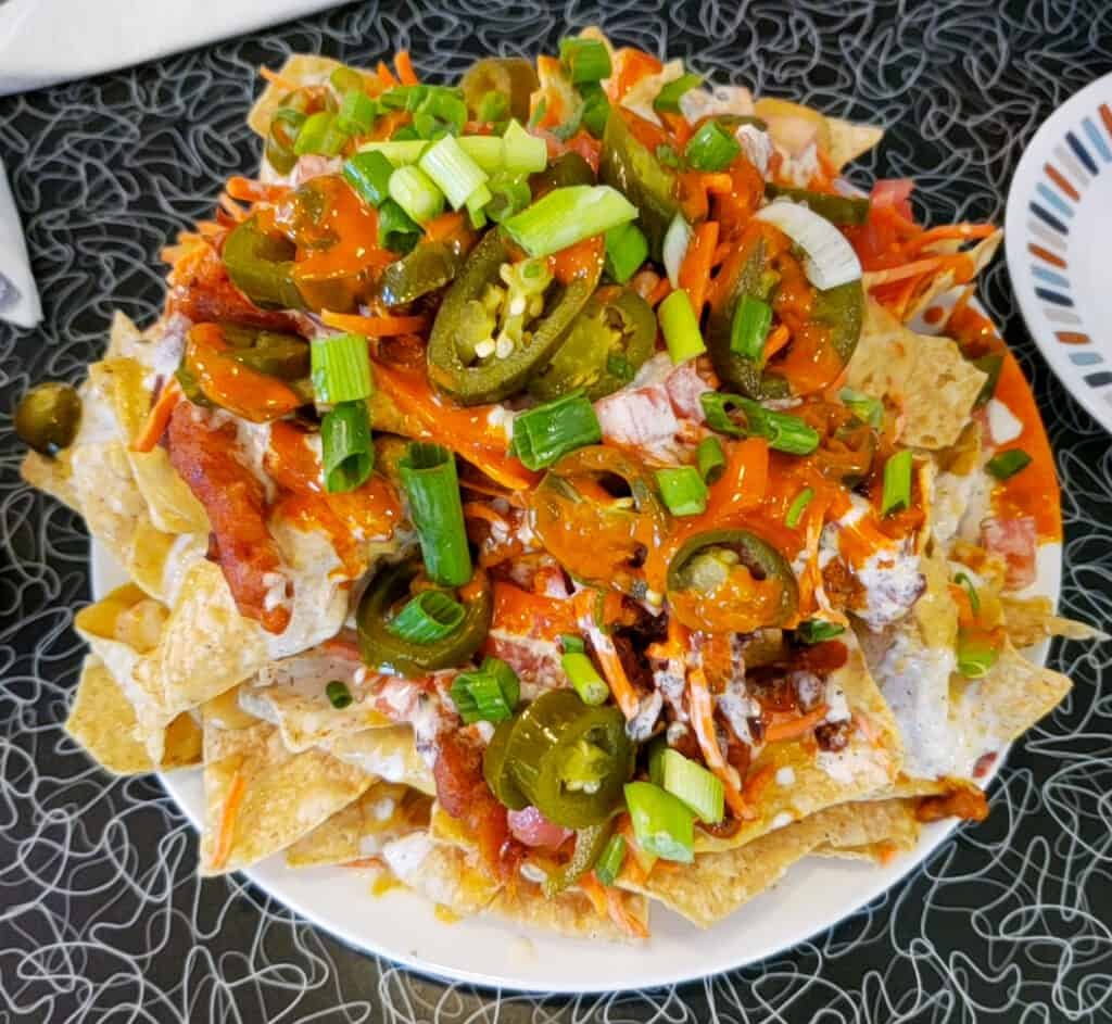 Buffalo nachos from Spiral