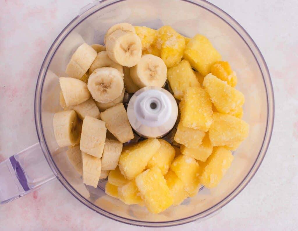 frozen pineapple and banana