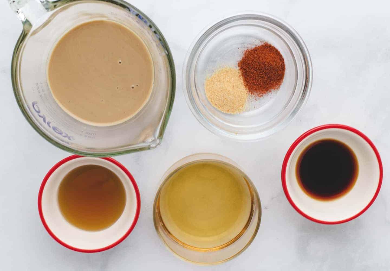 smoky tahini ingredients