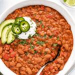 instant pot red lentil chili pin