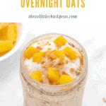 mango overnight oats in a jar